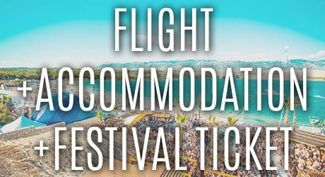 Flights plus accommodation plus festival tickets