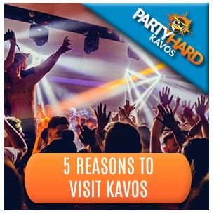 Revellers partying, one of the five reasons to visit Kavos