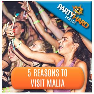 Revellers Party Time, one of the five top reasons to visit Malia
