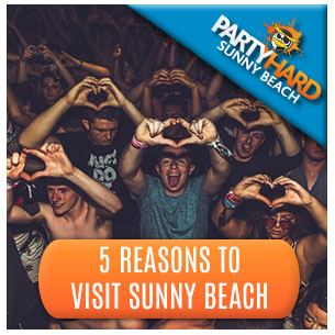 Revellers Party Time, one of the five top reasons to visit Sunny Beach