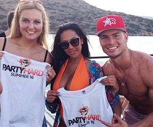 Sophie and Joel Corry with our Free Party Hard T-Shirt