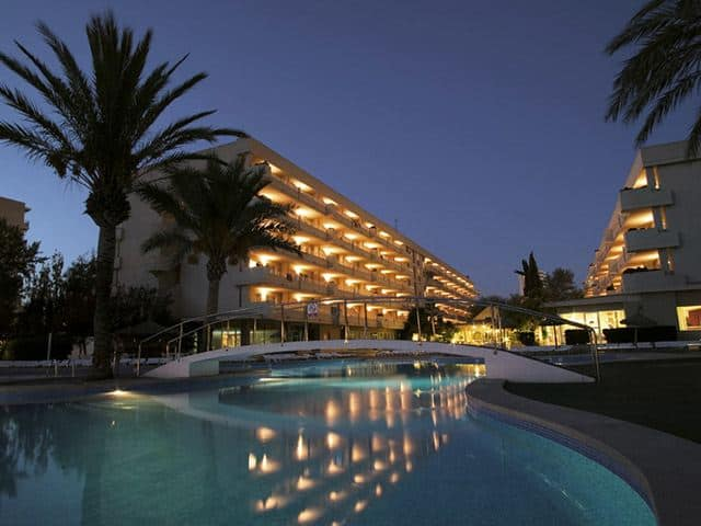 Evening View of Pool at the HM Martinique Hotel, Magaluf