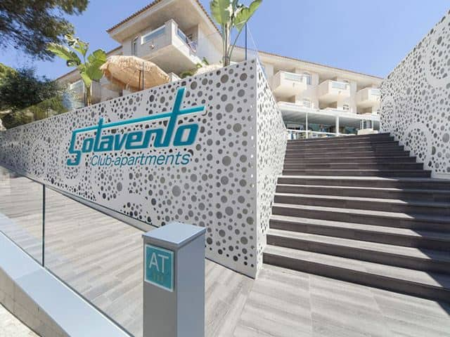 Entrance at the Hotel Sotavento, Magaluf