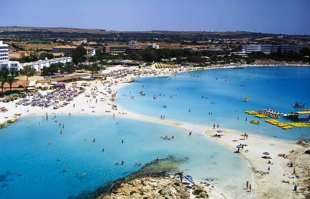nissi beach in ayia napa cyprus