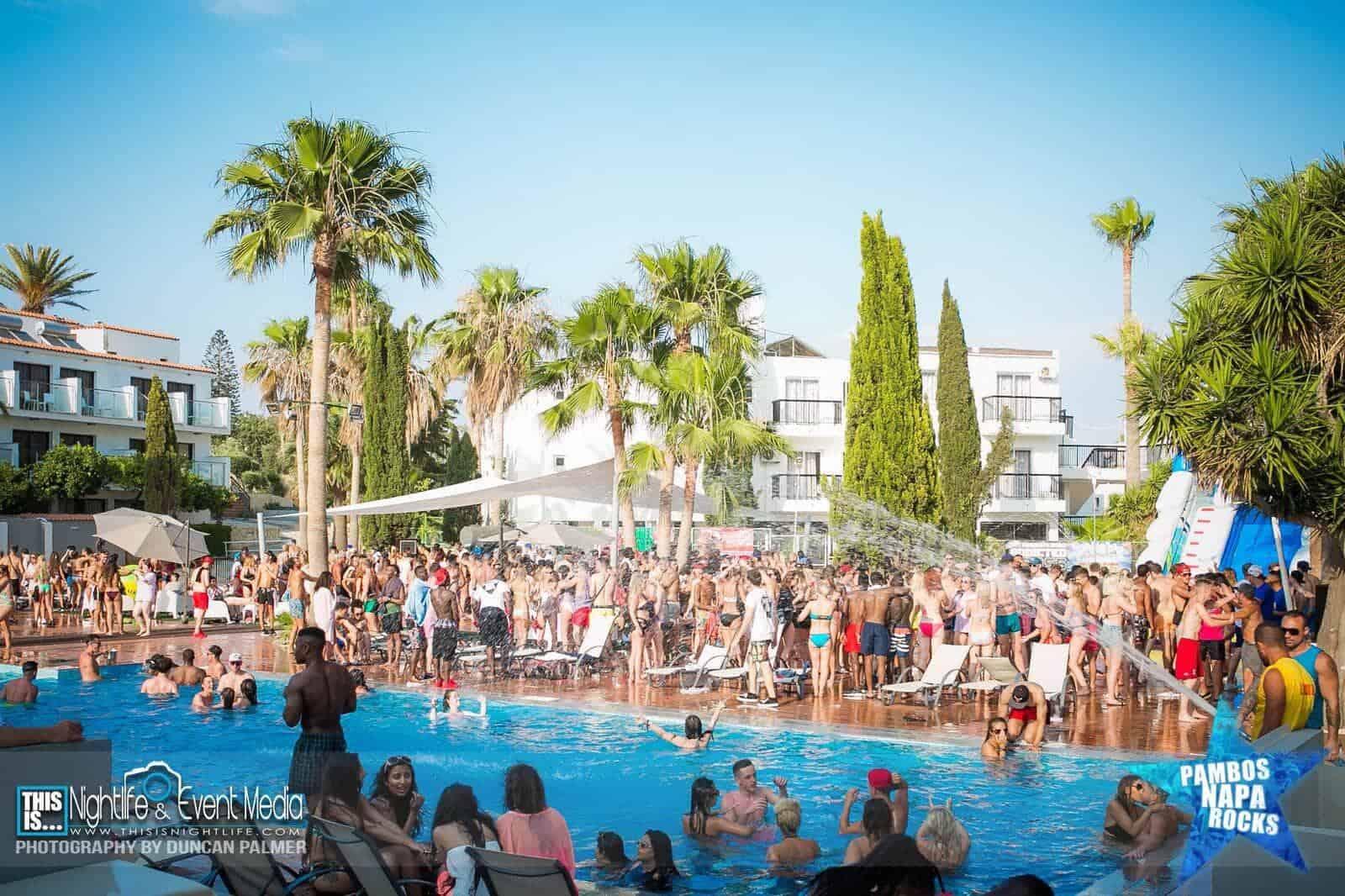 napa rocks pool party in ayia napa cyprus