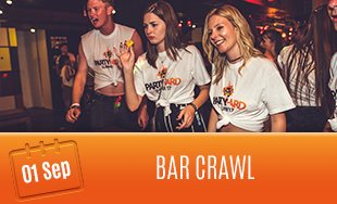 1st September: Bar Crawl