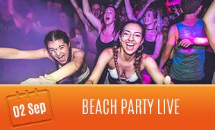 2nd September: Beach Party Live