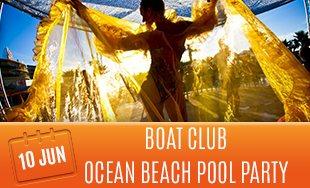 10th June: Boat club ocean beach pool party