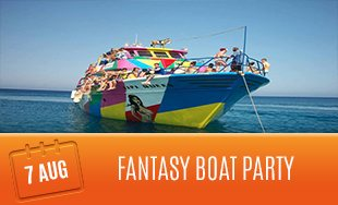 7th August: Fantasy Boat Party