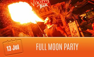 13th July: Full Moon Party
