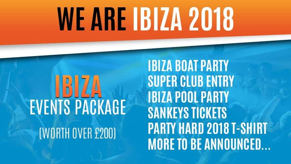 2018 Ibiza events package huge events best events in ibiza