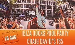 28th August: Ibiza rocks pool party Craig David's TS5