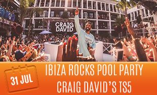 31st July: Ibiza rocks pool party Craig David's TS5