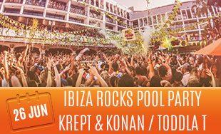 26th June: Ibiza rocks pool party Krept and Konan Toddla T