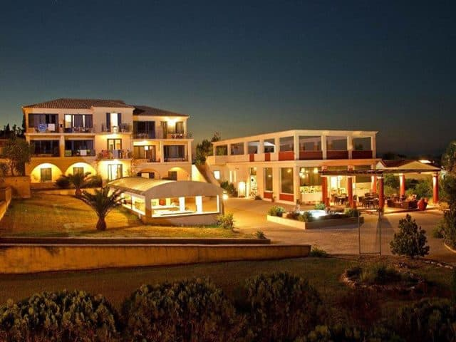 Front of the Ionian Sea View Hotel, Kavos