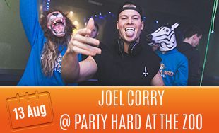 13th August: Joel Corry At Party Hard at the zoo