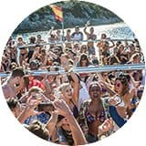 Party on the sunset booze cruise in Magaluf
