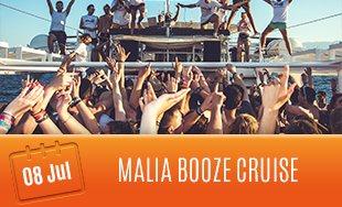 8th July: Malia Booze Cruise