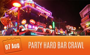 7th August: Party Hard Bar Crawl