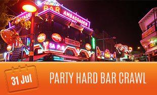 31st July: Party Hard Bar Crawl