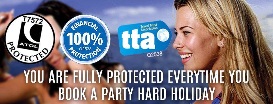 Full ATOL and TTA financial protection incuded with every booking