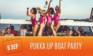 Pukka Up Boat Party, Ibiza, 6th September
