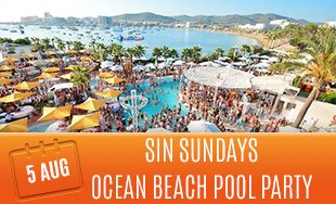 5th August: Sin Sundays ocean beach pool party