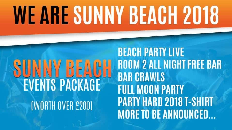 2018 Sunny beach events package huge events best events in sunny beach