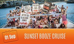 1st September: Sunset Booze Cruise