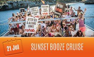 21st July: Sunset Booze Cruise
