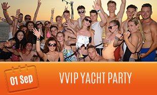 1st September: VVIP Yacht Party