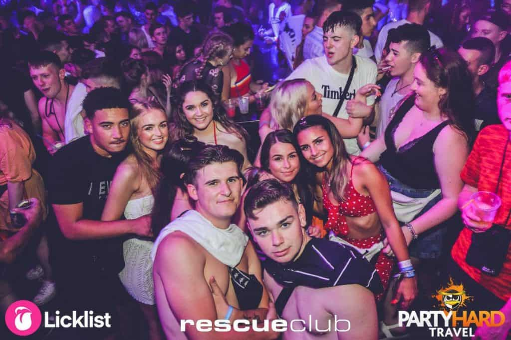 Lads and Girls Posing for Photo, Party Time at Rescue Club