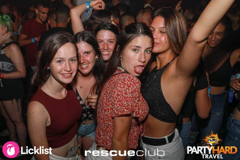Girls Partying the Night Away, at Rescue Night Club