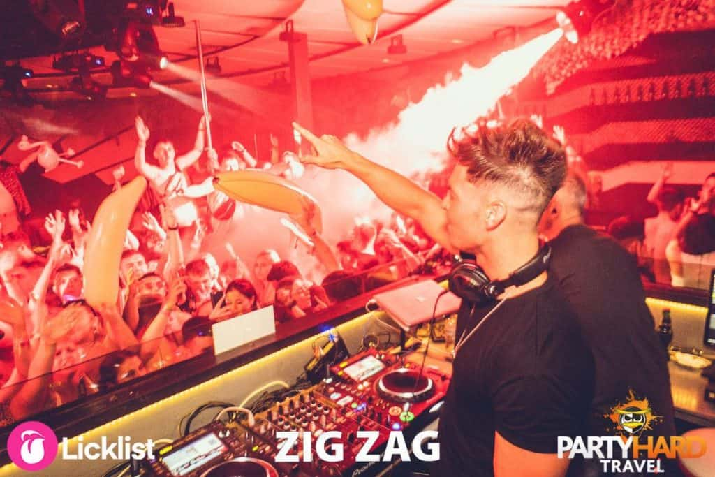 The Clubbing Crowd Go Wild as Joel Corry Turns up the Volume at Zag Zag Club in Malia