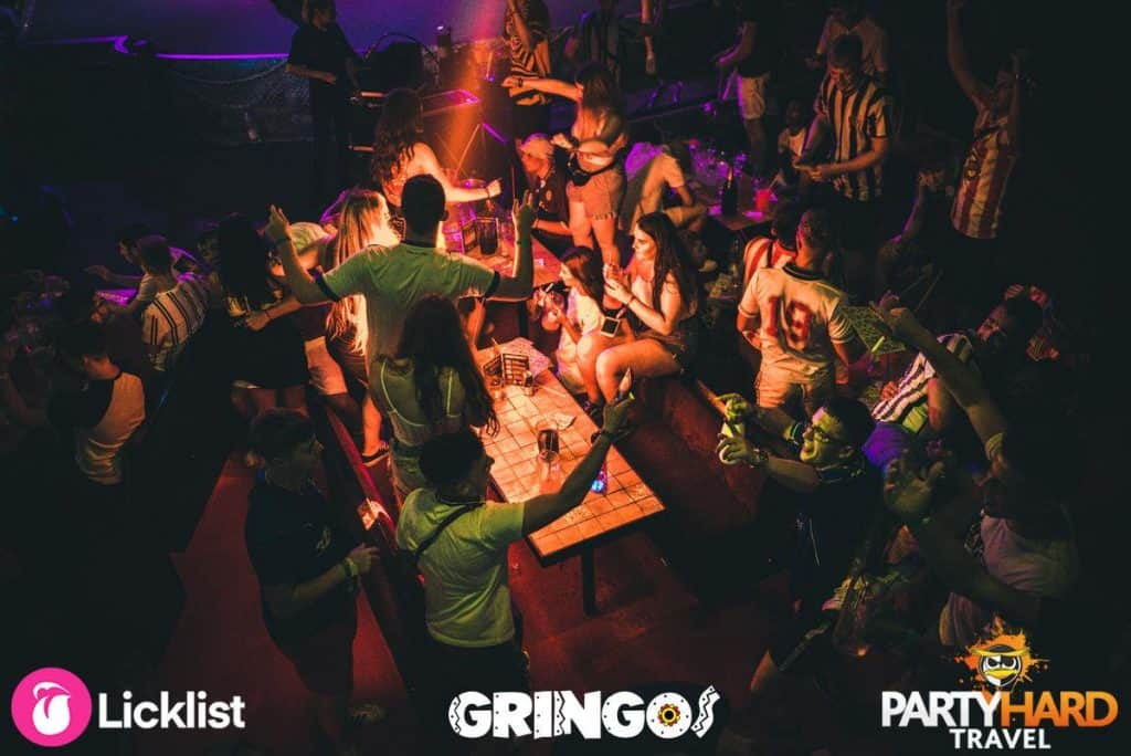 Lights out at Gringos Club as the Party Games commence in Magaluf