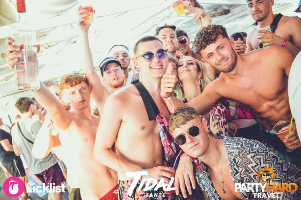 Lads with the Beer and Vodka posing on board the Tidal Boat Party