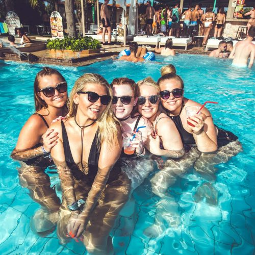 malia pool party girls in group