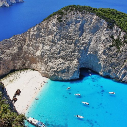 Navagio the most famous beach in Europe, Shipwreck Bay, Zante