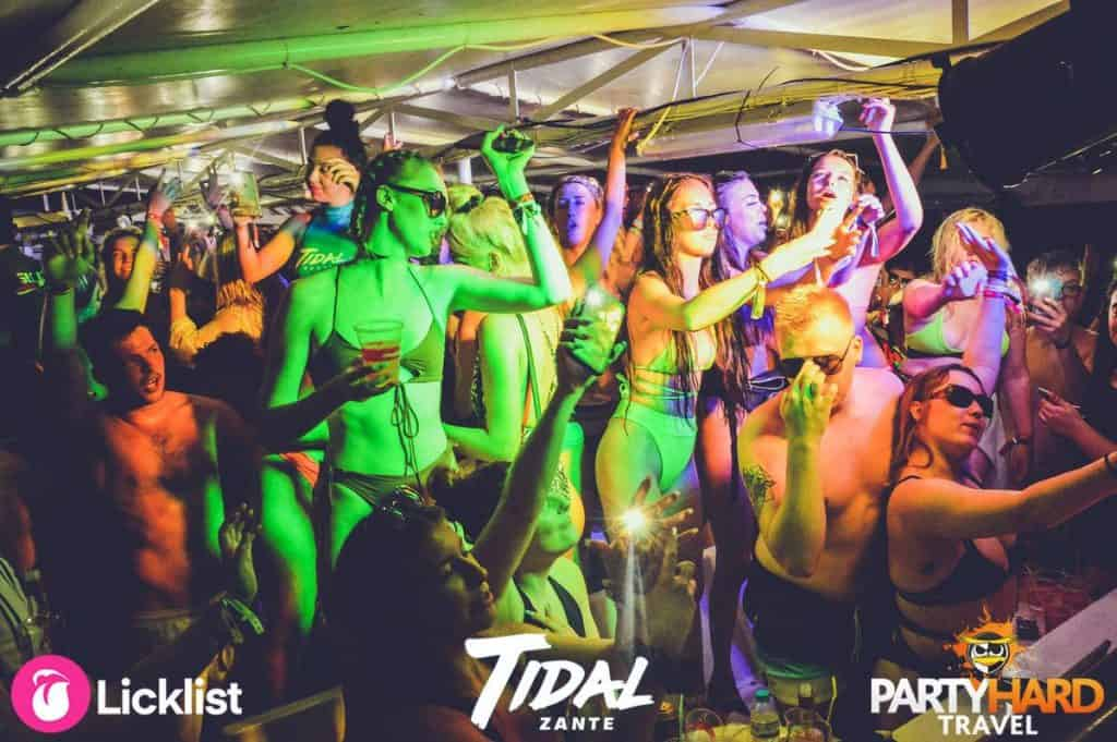 The incredible atmosphere on the dance floor of the Zante bouncing boat party