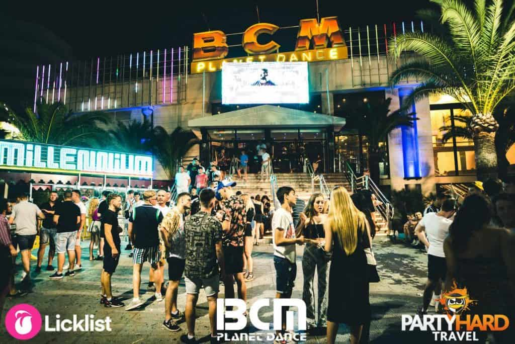 Party Goers Early Evening Gathering at the Bars near the Entrance of BCM Dance Planet Club