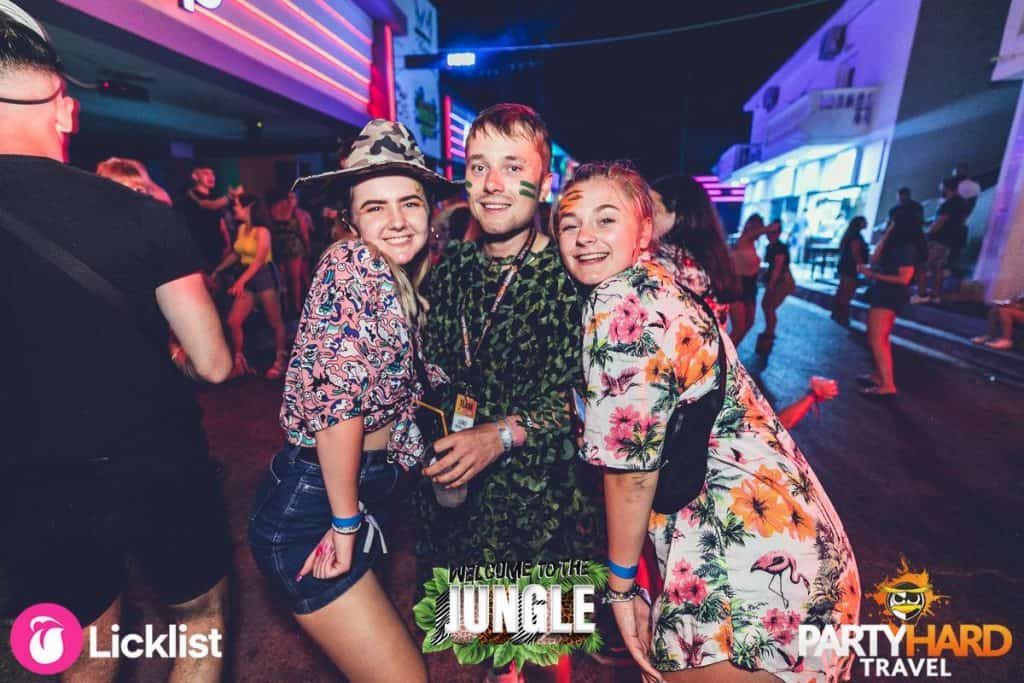 Party goers in Jungle Attire Ready for a Night on the Town in the Bars and Clubs