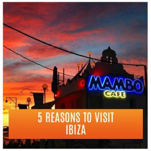 Mambo Cafe, evening view, red sky: 5 Reasons to Visit Ibiza