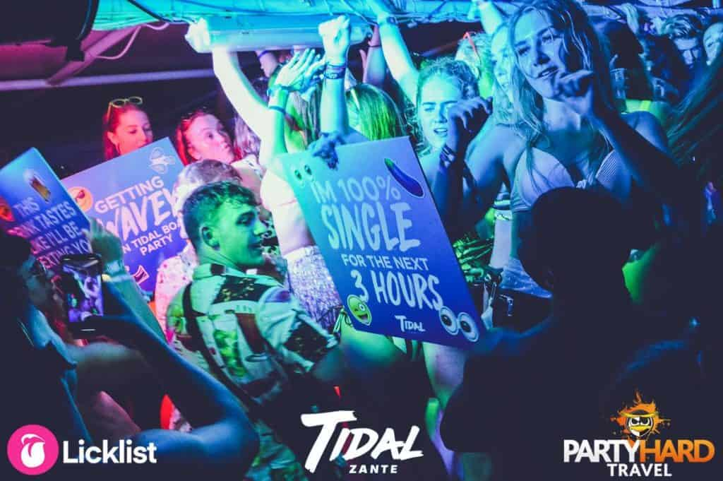 Girls and Lads Dancing Tidal aboard the unmissable Tidal Zante boat Party