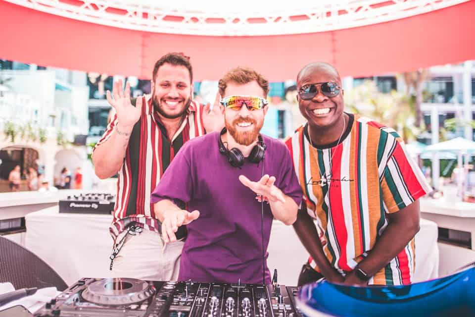 Just about famous, the celebrity DJ team at Celebrity Craig David TS5 Event Ibiza