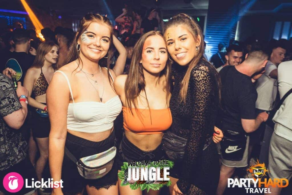 Three Girlfriends Enjoying a Night out at the Top Clubbing Venue in Kavos