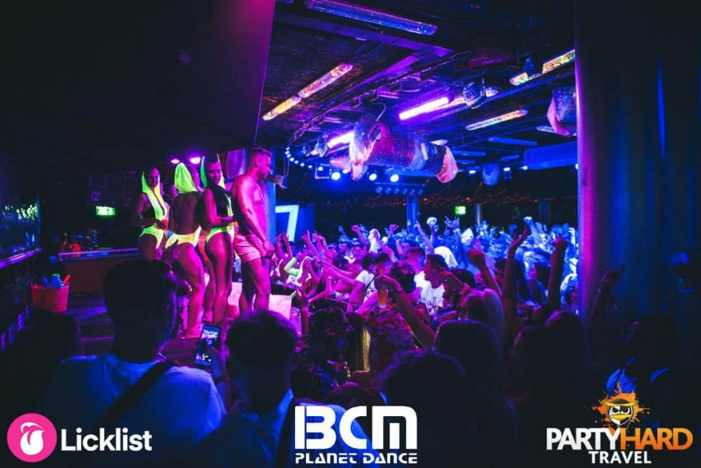 Podium Dancers Arriving on Stage Ready to Perform, Crowd Going Wild at BCM Superclub