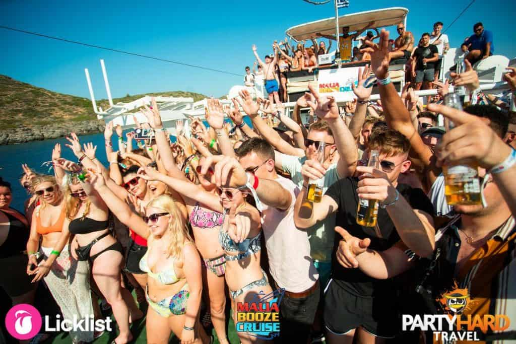 Group Photo, Hands Up all passengers aboard the Booze Cruise