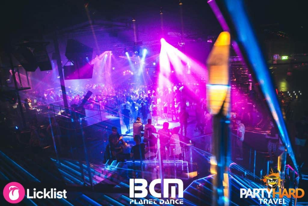 Spectacular Lightshow at the massive multi-floor BCM dance club in Magaluf