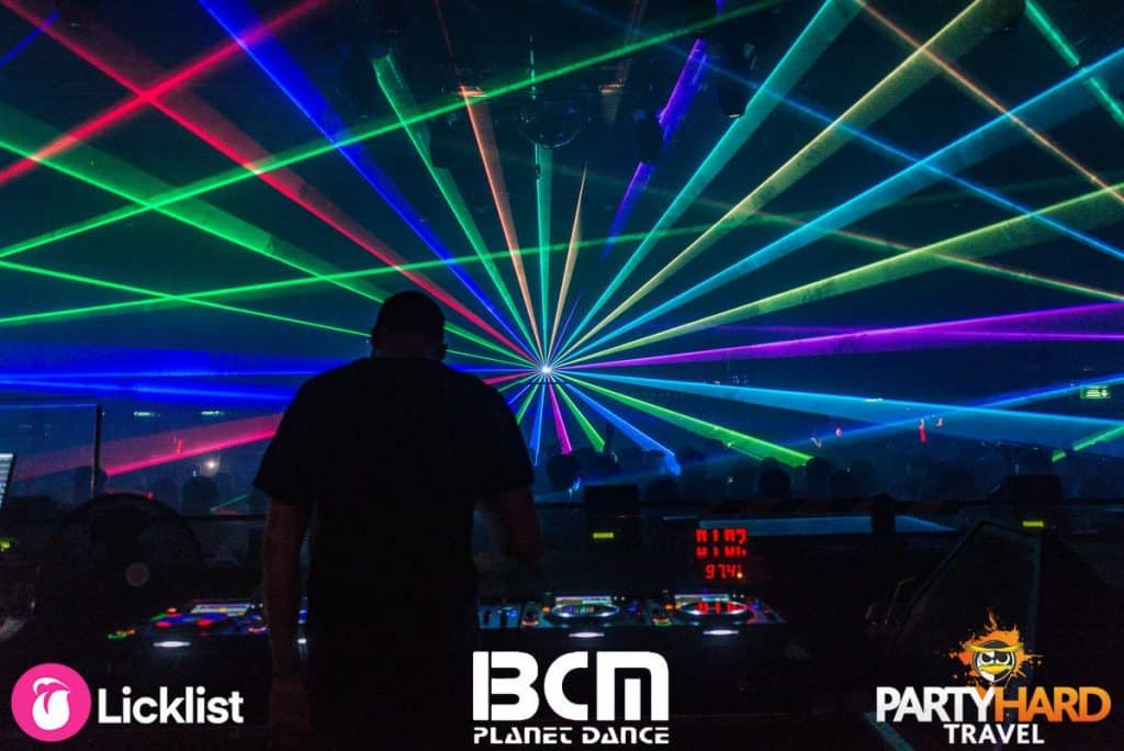 Amazing Laser Lightshow sequenced in time with the DJ's Banging Tunes at BCM Superclub
