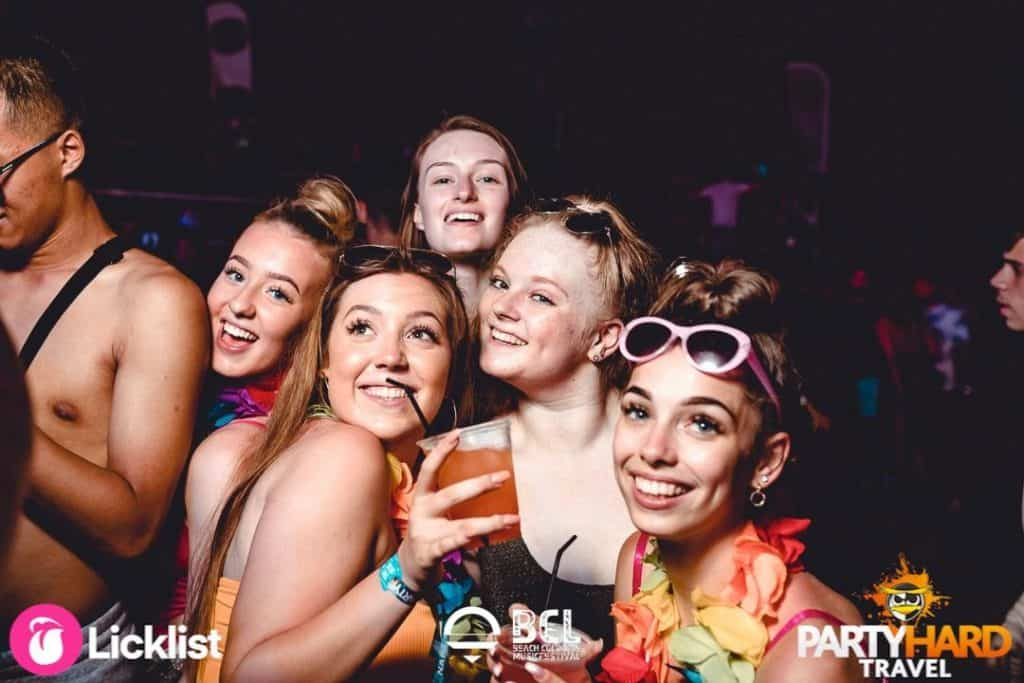 Group of Girls Enjoying the Show at BCL Ayia Napa